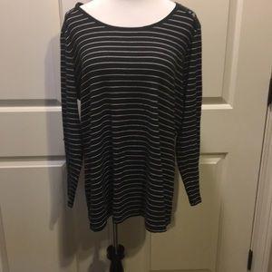 2X Faded Glory Striped Long Sleeve Shirt